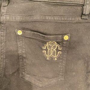 ROBERTO CAVALLI Black Straight Jeans Sz 44